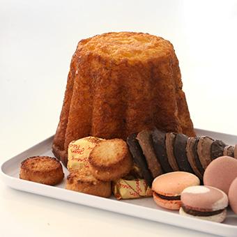 Gâteau battu et macarons d'Amiens
