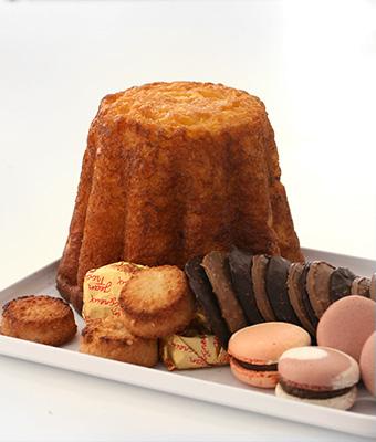 Gâteau battu et macarons